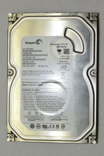 "7200 RPM 3.5/"" Seagate Barracuda 7200.10 250GB HDD"