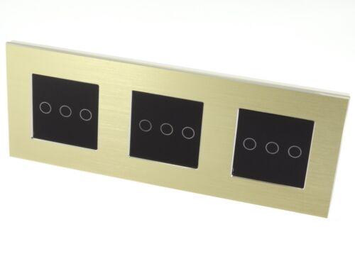 I LumoS or cadre en aluminium Touch Wifi//4 G Remote ON//OFF DEL lumière Commutateurs
