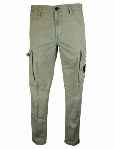 Stone Island SS19 Sage Green /'Old Dye/' Badge Pocket Cargo Trousers BNWT