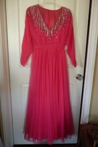 Vintage RUBEN PANIS Designer Gown- Pink Chiffon, B