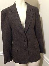 Women's Brown Wool Blazer by Oscar de la Renta, Size: 6