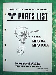 oem tohatsu outboard motor parts list manual 002 21051 0 4 stroke rh ebay com tohatsu outboard motor owners manual Tohatsu 6Hp Outboard Motor