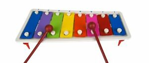2X Kids Childrens Traditional Metal Xylophone Musical Music Toy Instrument