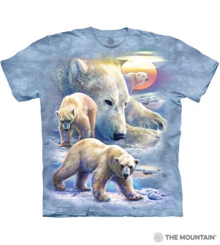 Sunrise Polar Bear Collage The Mountain 100/% Cotton Kids T-Shirt Sizes M NWT