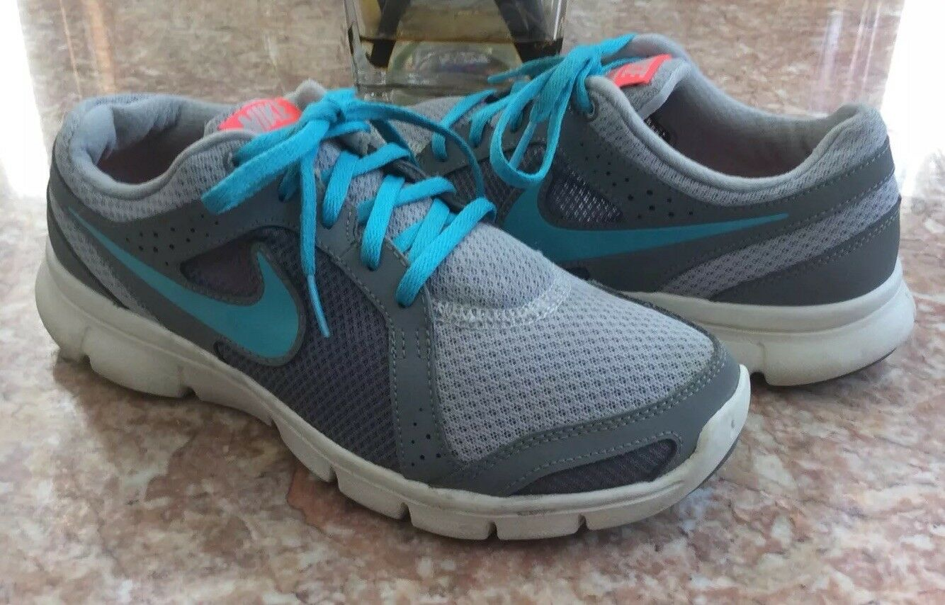 282d83b017c NIKE FLEX Experience RN 2 2 2 Women s Gray Blue Running Shoes Size 8.5  0ab954