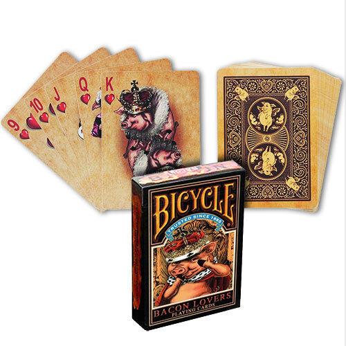"Bicycle Deck Poker Spielkarten /""Bacon Lovers/"" Sammler Karten Playing Cards"