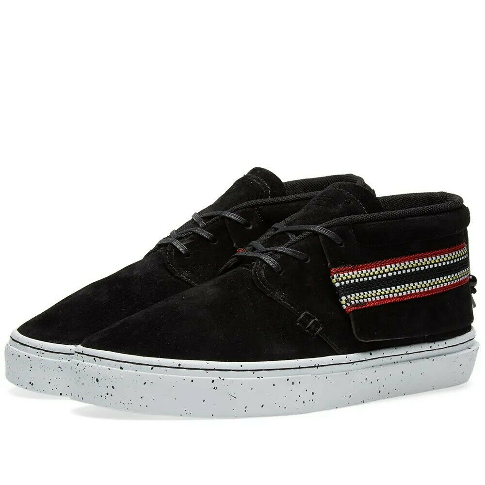 BNWB Para hombre tiempo claro marca uno-o-Una zapatilla de deporte Zapatillas Negro Gamuza UK6 PVP