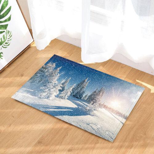 Mountain en saison hivernale en milieu rural Nature salle de bain Tapis antidérapant étage Porte Tapis
