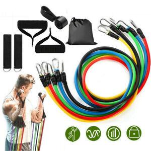 11-piezas-conjunto-de-bandas-de-resistencia-Pesado-Entrenamiento-Ejercicio-de-YOGA-Crossfit-Fitness