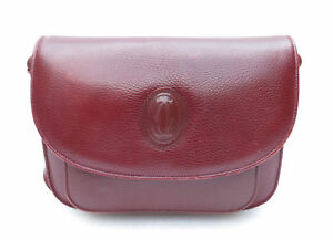 Dettagli su Borsa a tracolla postina must de cartier in pelle bag shoulder sac leather