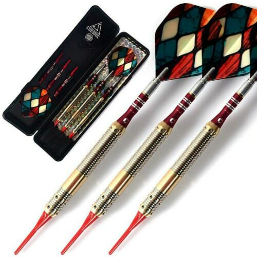 Soft Tip Darts With 16 Grams Brass Barrels For Electronic Dartboard Targets New