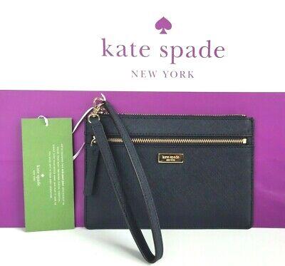 NWT Kate Spade Tinie Laurel Way Black Saffiano Wristlet Retail $119