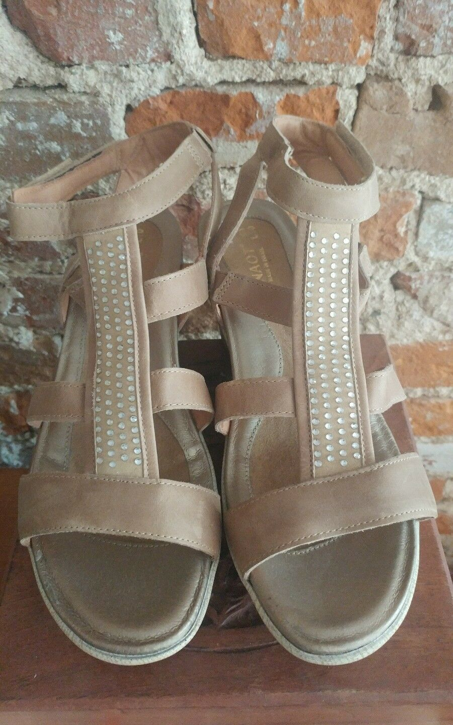 NAOT Leather Strappy Sandal MSRP  185 (worn once) with box