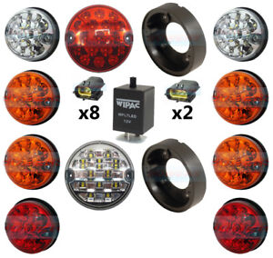 LAND-ROVER-DEFENDER-COMPLETE-10-COLOUR-LED-LAMP-LIGHT-UPGRADE-KIT-RDX-WIPAC-LUX
