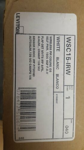 Leviton WSC15-IRW Wireless Self-Powered PIR Occupancy Sensor 1500 Square Feet