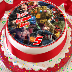 AVENGERS-PRECUT-EDIBLE-PERSONALISED-BIRTHDAY-CAKE-TOPPER-DECORATION-A007K