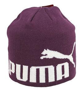 PUMA-Kinder-Muetze-Beanie-Italian-Plum-No1-Logo