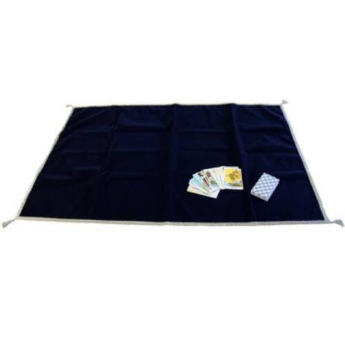 Tarot Tissu de Luxe Velours Tapis Brodé Bleu lo scarabeo Grand 120x80 CM Neuf