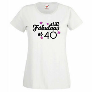 Image Is Loading Women 039 S Graphic 40th Birthday T Shirt