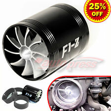 """For SUZUKI Supercharger COLD AIR INTAKE TURBO DUAL Gas Fuel Saver Fan BK 2.5-3"""""""