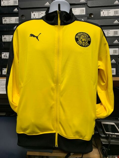Puma Borussia Dortmund Bvb T7 Track Jacket Men S Medium Black Yellow 754101 For Sale Online Ebay