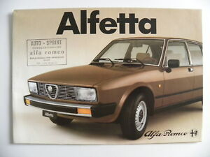 Catalogue-publicite-ALFA-ROMEO-ALFETTA-82