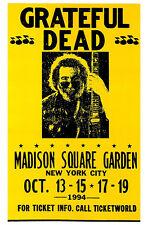 Grateful Dead Concert Poster, Madison Square Garden, New York City