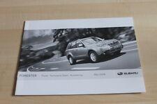 113688) Subaru Forester - Preise & tech Daten & Ausstattungen - Prospekt 03/2008