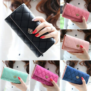 Women-Lady-Long-Card-Holder-Phone-Bag-Case-Purse-Handbag-Clutch-Leather-Wallet-U