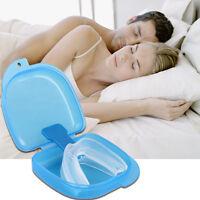 HOT Anti Snore Stop Snoring AID Mouth Guard Piece Sleeping Aid Apnea Relief XN