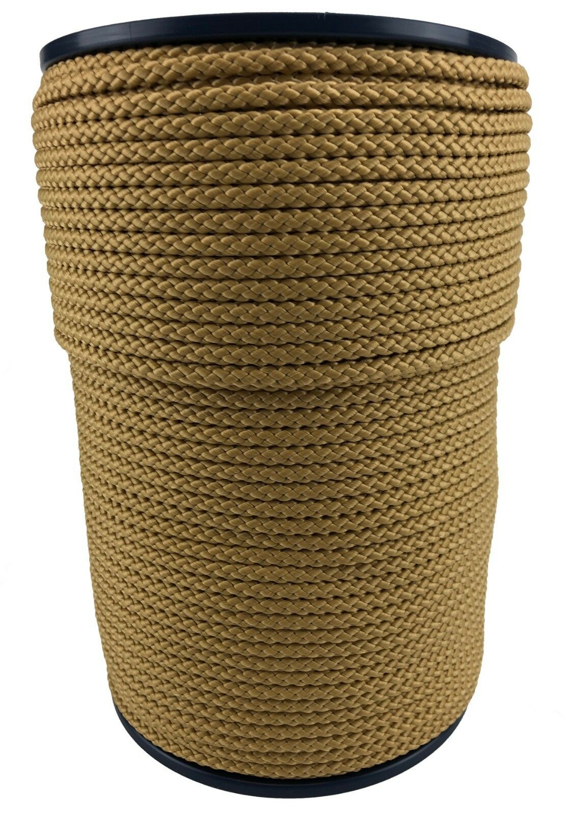 6mm Beige Braided Polypropylene Poly Rope Cord Paracord Drawstring Yacht Sailing