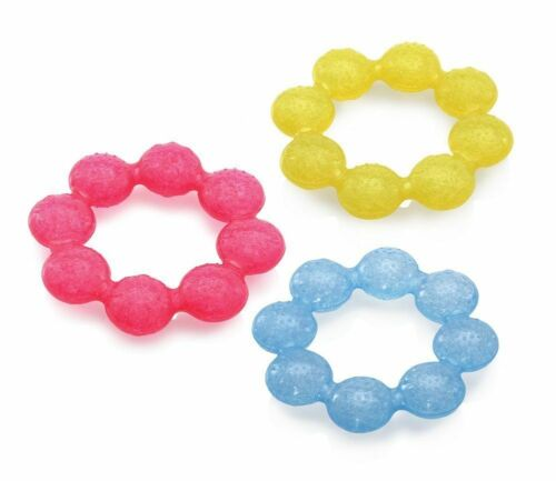 Colors May Vary 3 Pack Nuby Pur Ice Bite Soother Teether Ring