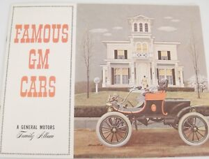Famous Gm Cars A General Motors Family Album Vintage Cars Color Illus 1962 Ebay