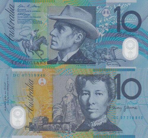 Australia 10 Dollars 2007 Horserider//Ox Cart//p58d UNC