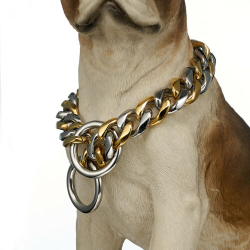 "Dog Puppy Training Collar Choke Curb Chain Stainless Steel Pet Collar 12/""-36/"""