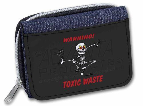 Toxic Waste/' Girls//Ladies Denim Purse Wallet Christmas Gift FUN-16JW /'Warning