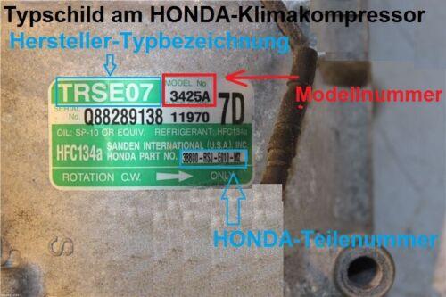 Climat compresseur Magnétique Embrayage Honda Accord V VI Civic VII PRELUDE Trsa 09-NEUF