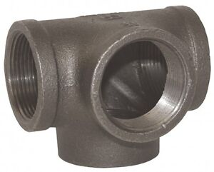 "2"" Side Outlet TEE BLACK MALLEABLE IRON fitting pipe npt"