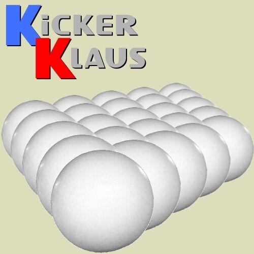 mittelhart 1606: Set Kickerbälle 25 Stück weiß Art