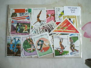 SPORTS-100-TIMBRES-TOUS-DIFFERENTS
