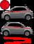 Fiat-500-Autocollant-Bandes-Stickers-adhesifs-decoration-couleur-au-choix miniatura 10