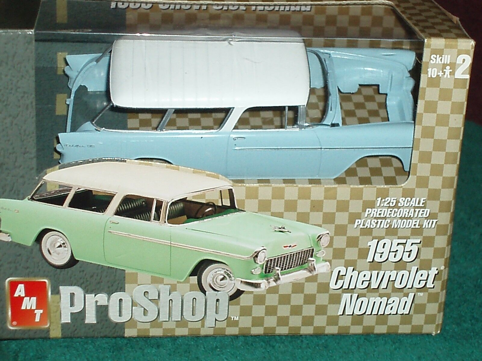 AMT PRO SHOP 1955 CHEVY BEL AIR NOMAD  1 25 PREPAINTED PLASTIC Modelll KIT HTF