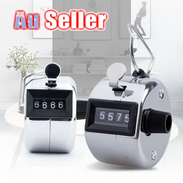 High Quality Tally Counter 4 Digit Number Clicker Hand Held Manual Sale