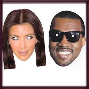 Half face celebrity masks kanye