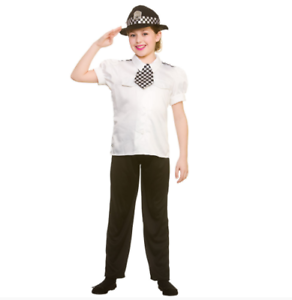 Image is loading NEW-Police-Woman-Childrens-Girls-Cop-Officer-Fancy-  sc 1 st  eBay & NEW Police Woman Childrens / Girls Cop Officer Fancy Dress Halloween ...