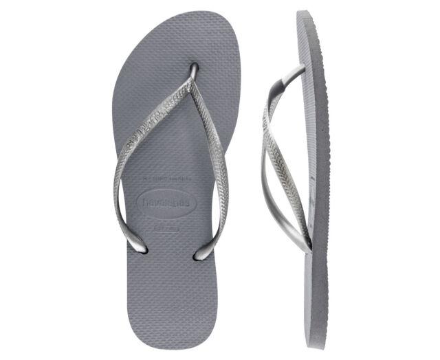 45ee4b074 Havaianas Steel Grey Slim Womens Flip Flop UK 5   US 6 for sale ...