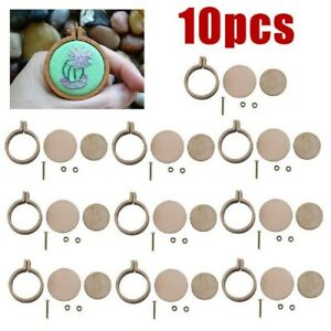 10-Pack-Mini-Embroidery-Hoop-Ring-Wooden-Cross-Stitch-Frame-For-Hand-Crafts-DIY