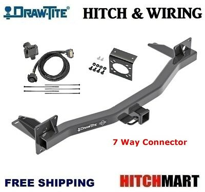 TRAILER HITCH & WIRING 7 WAY PLUG FOR 2018-2020 CHEVY ...