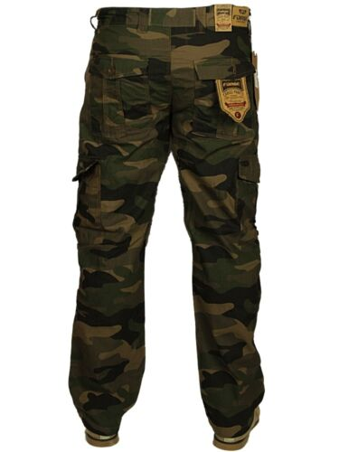 Mens King Size Cargo Combat Trousers Military Camouflage Casual Pants 50-70