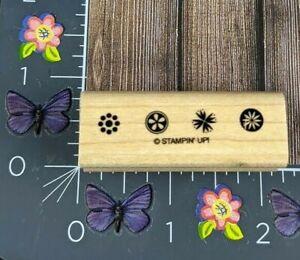 Stampin' Up! Flower Snowflake Border Rubber Stamp Wood Mount #B13
